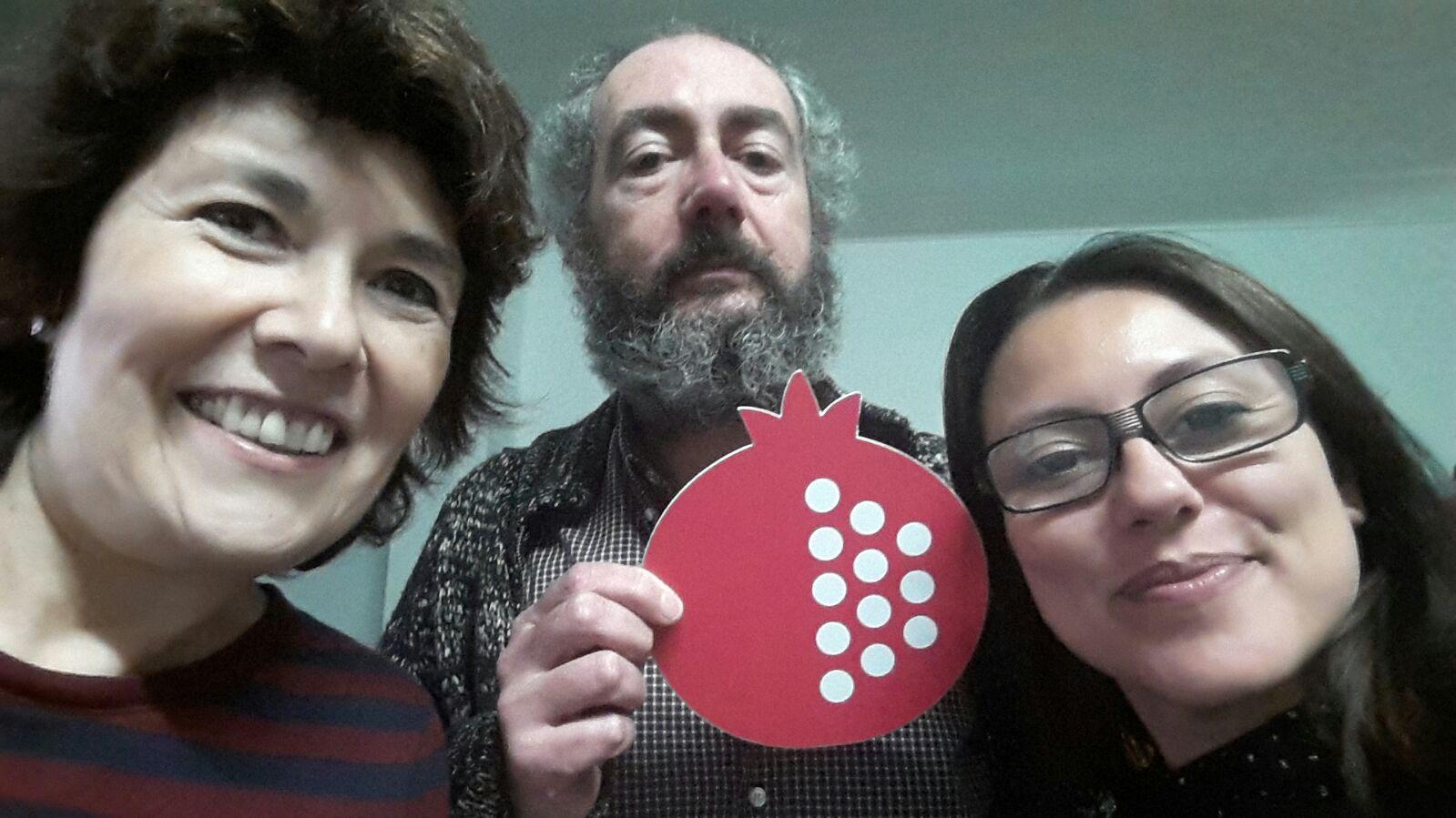 """Con Vicente Ferrer en Valencia, de editorial Media Vaca, quien edito el libro de Diego   Bianchi """"Buenos Aires"""" y a quien presentaremos en Junio en la gale."""
